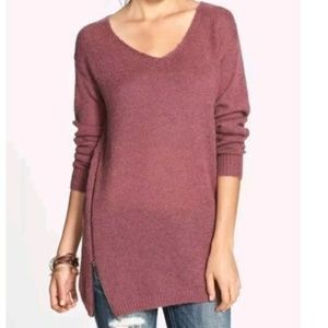 Nordstrom BP Mauve Wool Mohair Tunic Sweater